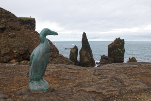 Great Auk Memorial (stands 5 feet tall)