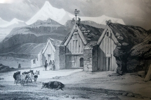 Historic Drawing of Glaumbaer Farm