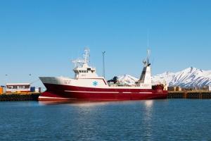 Arctic Ship with Snowflake Design