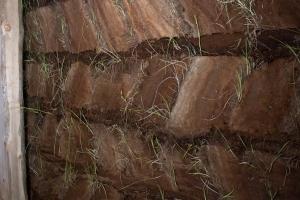 Inside Closeup of Sod Walls