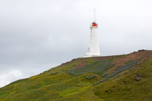 Reykjanes Lighthouse. Iceland's Oldest Lighthouse near Reykjavik.