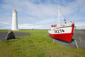 Gardskagaviti Lighthouses and Old Fishing Boat