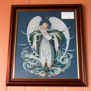 Strandarkirkja Beaded Angel Tapestry