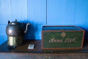 Teapot and Box (inscription says Anna 1796)