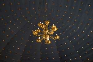 Thingeyrarkirkja Blue Ceiling with Gold Stars