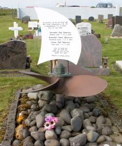 Utskalakirkja Cemetery Ship's Propeller Memorial