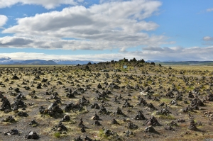 Laufskalavarda: Tradition Calls for Travelers to Pile Up Rock Cairns to Bring Good Luck on Journey, South Coast