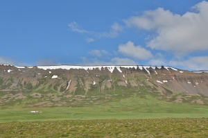 Tabletop Mountain Formed When a Volcano Erupted Under a Glacier, Northern Iceland