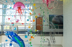 Recycled Art in Tower Atrium