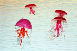 Recycled Glass Jellyfish in Atrium