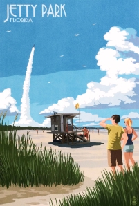 Vintage Poster of Jetty Park