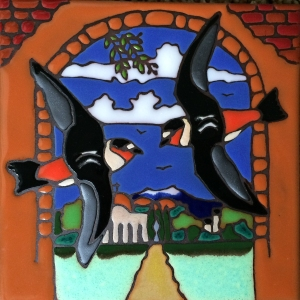 Swallow Tile Purchased in Gift Shop