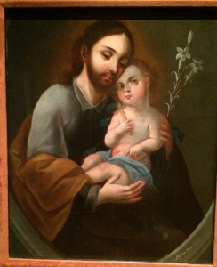 Restored Painting of St. Joseph with Baby Jesus