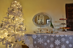 Silver Holiday Table in Historic Home