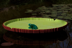 LEGO Frog on Lilypad