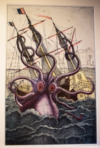 """Colossal Octopus"" Pen and Wash Drawing, 1803"