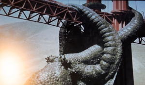 "Octopus Attacking Golden Gate Bridge in 1955 Movie ""It Came from Beneath the Sea"""