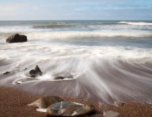 Long Exposure of Ocean Waves