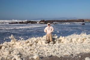 Sea Foam on a Windy Day