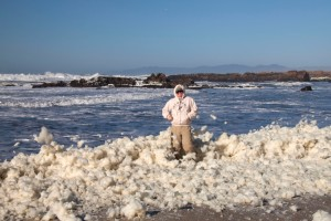 Sea Foam on a Windy Day
