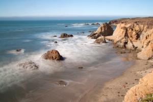 Long Exposure of Rocky Coast