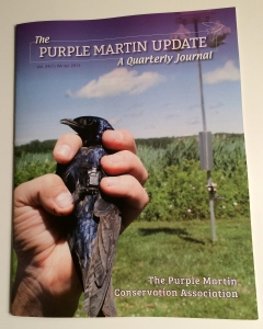 Purple Martin Update, Winter 2015, Front Cover