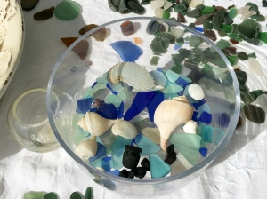 Blue Bowl of Sea Glass