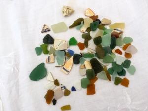 Sea Glass on Table