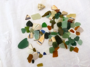 Sea Glass on Table