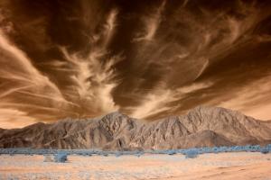 Infrared Desert Landscape