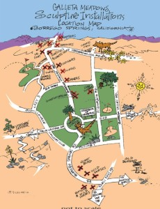 Sculpture Installation Map by Galleta Meadows