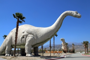 Apatosaurus Dinosaur Statue near Palm Springs, California