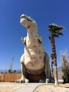 T Rex Dinosaur Statue near Palm Springs, California