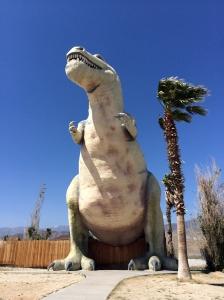 T Rex Dinosaur Statue near Palm Springs, California