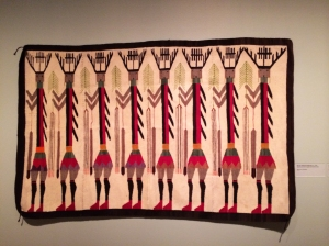 Navajo Yeibeichai Rug with Female Dancers