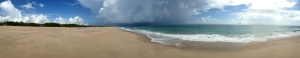 Panorama of Isolated Storm over Sebastian Beach (click to enlarge)