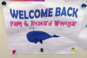 Our Welcome Back Sign
