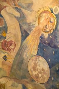 Ballin Mural - Moon and Comet