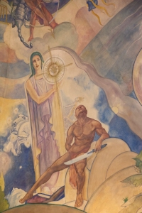 Ballin Mural - Woman Holding Star of Bethlehem