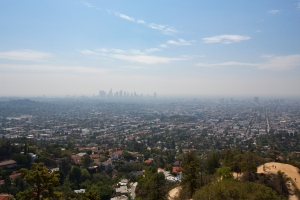 View of Foggy Los Angeles Basin from Observatory