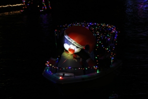 Boat Parade Merry Christmas Penguin