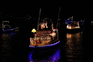 Boat Parade Christmas Story Lamp