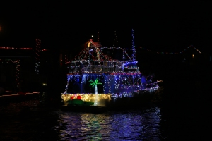 Boat Parade Lights with Palm Tree