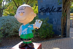 Charlie Brown at Entrance to Schulz Museum