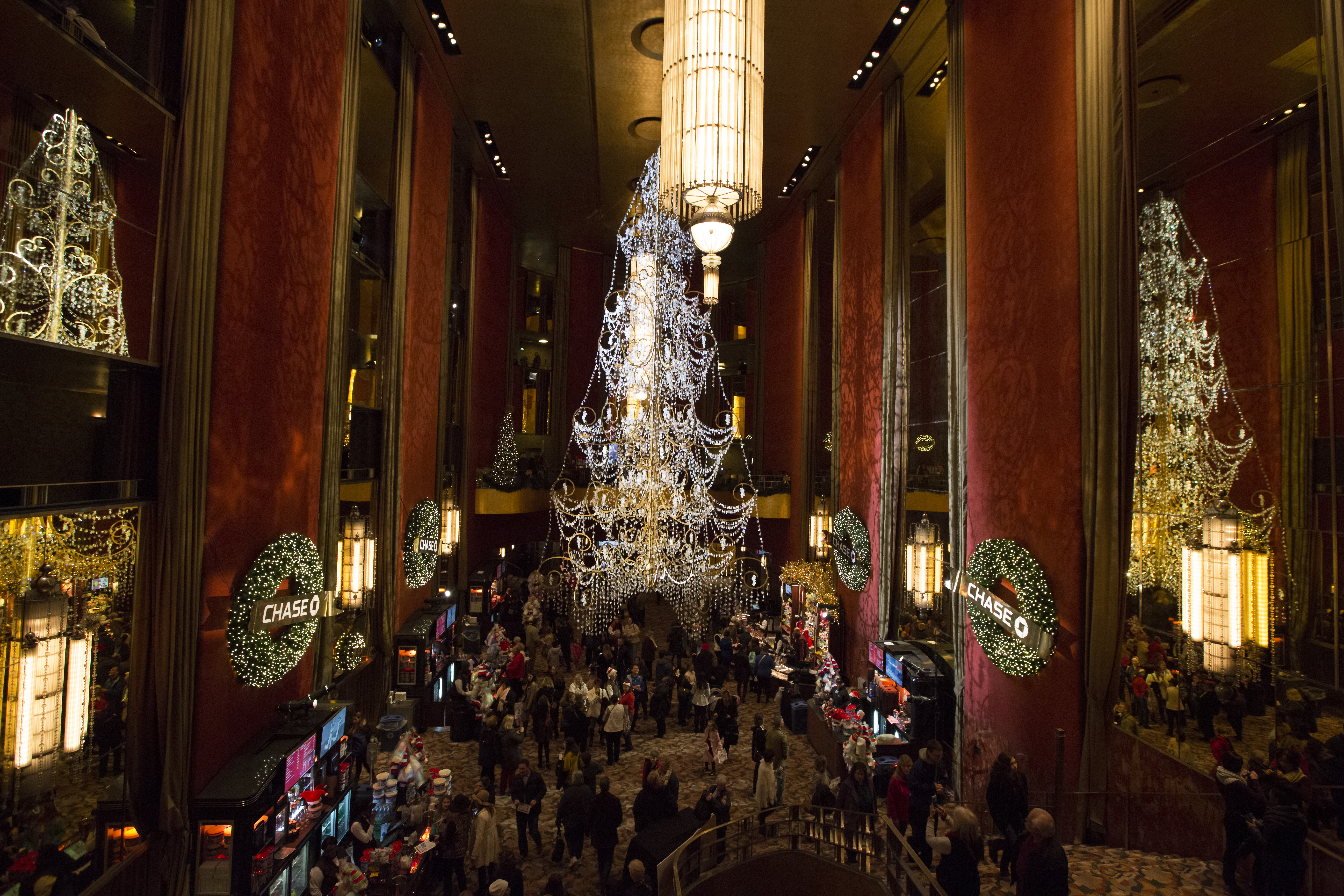 Lobby featuring 35 foot tall swarovski crystal christmas tree published december 26 2015 at 5562 3708 in aloadofball Choice Image