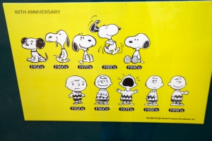 Poster Featuring Evolution of Snoopy and Charlie Brown