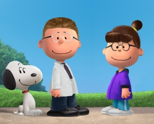 Snoopy with Authors Pam and Richard Digitized into Peanuts Characters