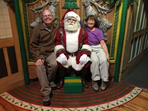 Santa with Authors Pam and Richard
