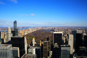 "View of Central Park from ""Top of the Rock"""