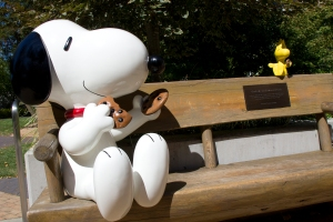 Snoopy and Woodstock Bench